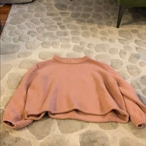 World Market Pink cropped sweater